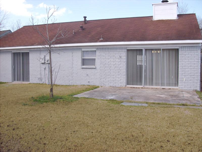 back of 21403 Park Bishop Drive Katy Texas real estate