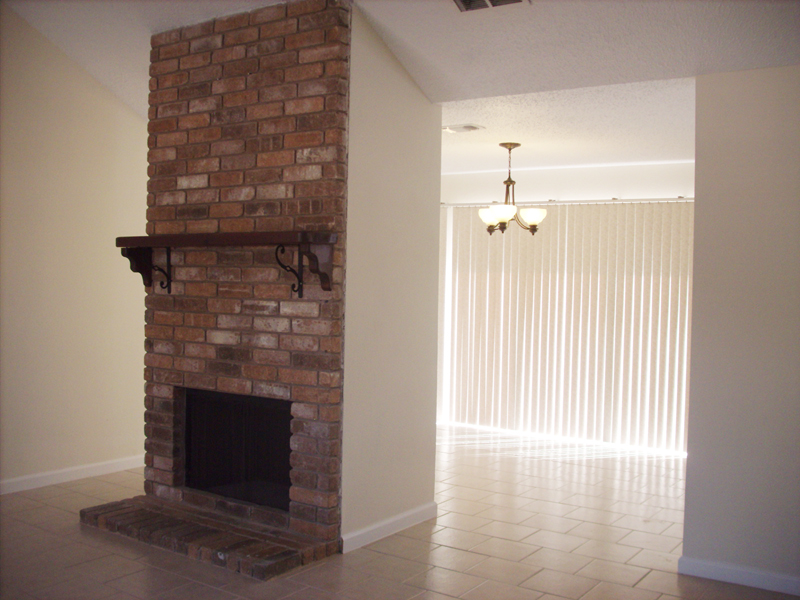 living room fire place, 21403 Park Bishop Katy Texas real estate