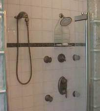 master shower of Bellaire TX home
