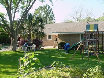 back of home Houston Texas real estate