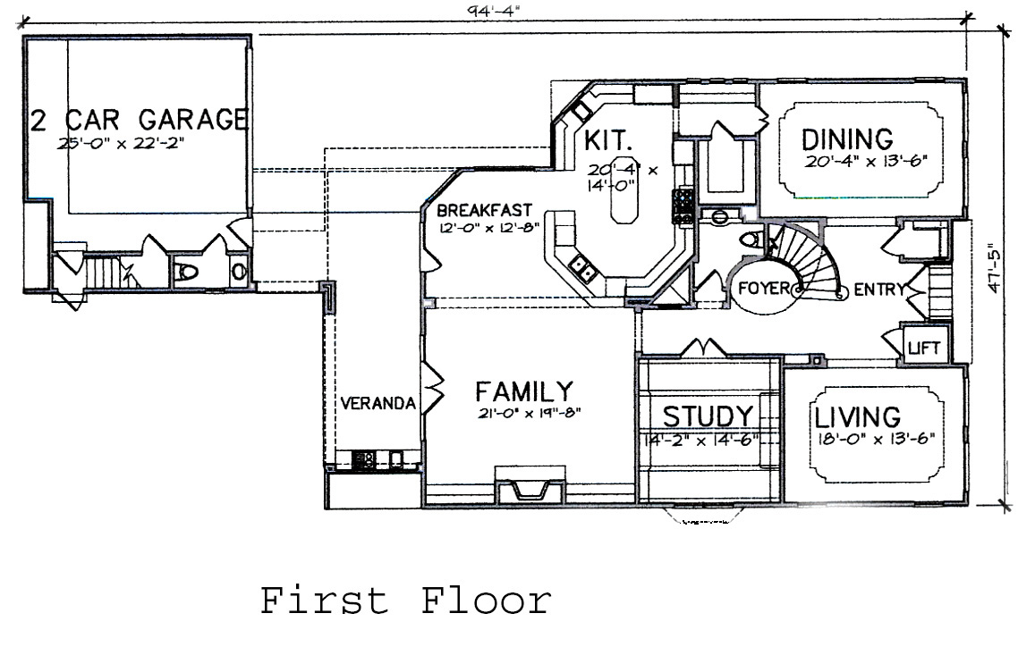 first floor plan  Houston Texas real estate