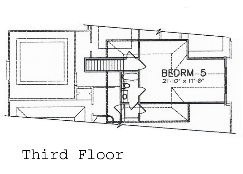 third floor plan  Houston Texas real estate